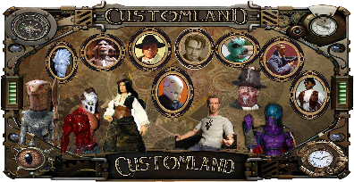 steampunk,  retro futur, julevierniens , explorateur , mercenaire , customland